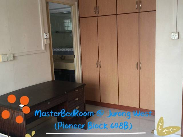 MasterBedRoom @ JW St61 (Pioneer MRT)-No Agent Fee No Owner