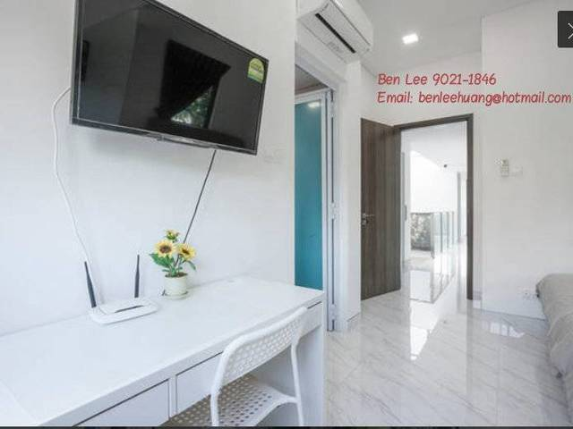 Hougang MRT 4F Modern Master Bedroom Attach Ensuite Bathroom Rental Lease $1500