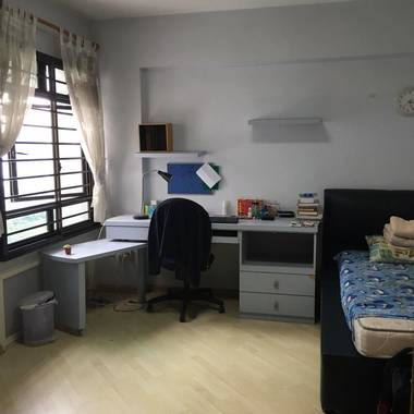 Common room in spacious apartment (Good location: 3-min walk from Clementi Mrt)