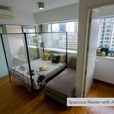 Penthouse MasterRoom with attached bathroom and study room for Rent