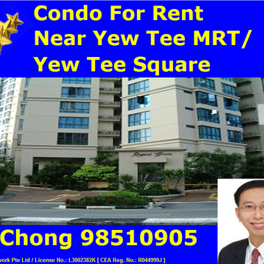 Near Yew Tee MRT - 3 Bedder 1 Utility Room Regent Grove Condo for Rent (at 54 Choa Chu Kang North 7)