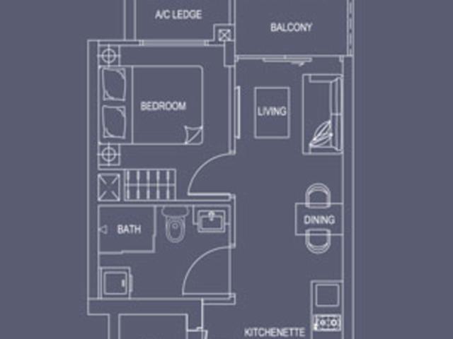 Property For Rent Serangoon Singapore 1 Bedroom Condo Near To Kovan Mrt Station Purple Line