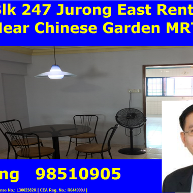 [Owner's Agent] Blk 247 Jurong East Street 24 (2+1) whole unit for rent