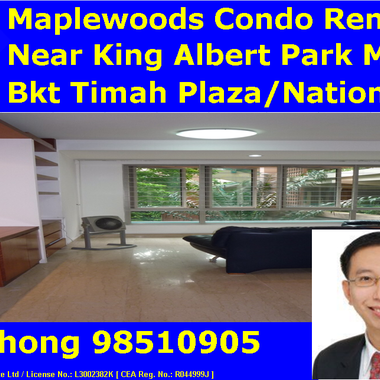 [Owner'sAgent]Near King Albert Park MRT/Ngee Ann Poly-3 Bedder Maplewoods Condo Whole Unit for Rent