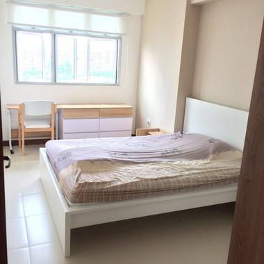 rare hdb 1+1 for rent nice renovated with no agt fee