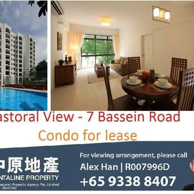 Pastoral View condo at Bassein Road, Novena for rent, 3Br