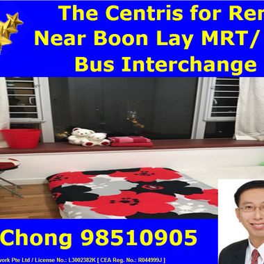 Near Boon Lay MRT/ Jurong Point - 3 bedders The Centris Condo Whole Unit for Rent